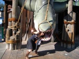 Mum being eaten by a shark